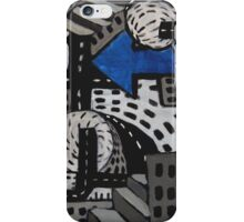 City Perspectives, Aerial Cityscape, Abstract City Painting  iPhone Case/Skin