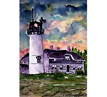 Chilmark Lighthouse Painting Marthas Vineyard Massachusetts Photographic Print