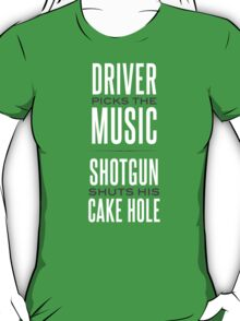 Rules Of The Car T-Shirt