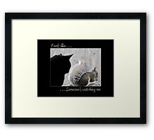 Someone's Watching Over Me Framed Print