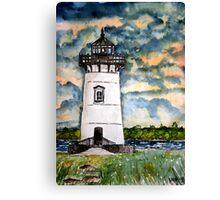 Edgartown Lighthouse Painting Marthas Vineyard Massachusetts Canvas Print