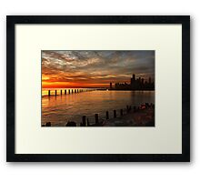 Lakefront Dawn Framed Print