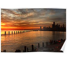Lakefront Dawn Poster