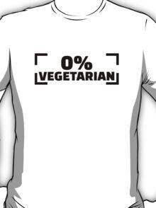 0% Vegetarian T-Shirt