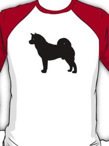 Akita Dog Silhouette T-Shirt