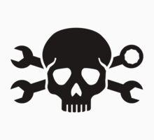 Skull crossed screw wrench by Designzz