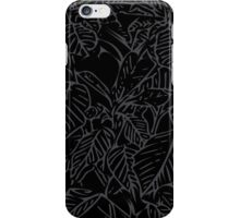 The Plant (charcoal black) iPhone Case/Skin