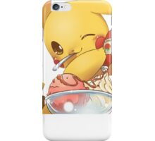 Pikachu Loves Ketchup on Ice Cream iPhone Case/Skin