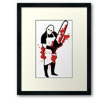 Chainsaw Butcher Framed Print