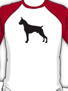 Boxer Dog Silhouette T-Shirt