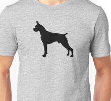 Boxer Dog Silhouette Unisex T-Shirt