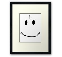 Cross Smile [Black] Framed Print