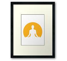 Meditation moon Framed Print