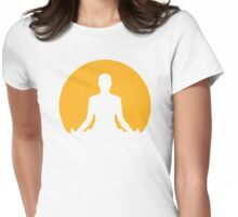 Meditation moon Womens Fitted T-Shirt