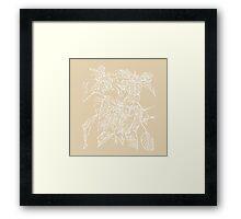 The Plant (gold) Framed Print