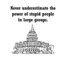 Stupid Politicians Photographic Print