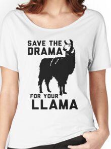Drama Lama [Black] Women's Relaxed Fit T-Shirt