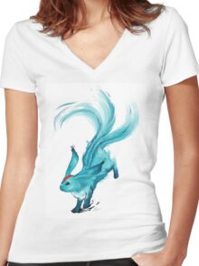 The blue carbuncle Women's Fitted V-Neck T-Shirt
