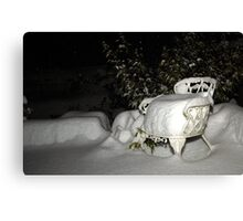 White Christmas ~ Saturday nite Canvas Print