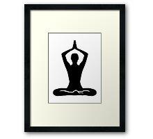 Meditation exercise Framed Print