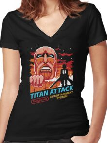 Titan Attack Women's Fitted V-Neck T-Shirt