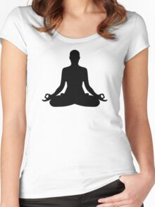 Meditation Yoga Women's Fitted Scoop T-Shirt