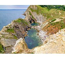 Stair Hole - Lulworth Dorset UK - HDR  Photographic Print