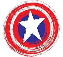 Captain America Shield Photographic Print