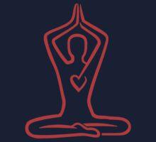 Meditation heart One Piece - Short Sleeve