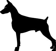 Doberman Pinscher Dog Silhouette by SandpiperDesign