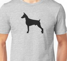 Doberman Pinscher Dog Silhouette Unisex T-Shirt
