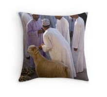 The goat sale Throw Pillow
