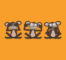 See No Evil, Hear No Evil, Speak No Evil Tee 1 by BluAlien