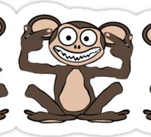 See No Evil, Hear No Evil, Speak No Evil Tee 1 Sticker