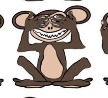 See No Evil, Hear No Evil, Speak No Evil Group Tee Sticker