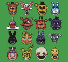 Five Nights at Freddys - Pixel art - Multiple characters Kids Clothes