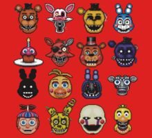 Five Nights at Freddy's - Pixel art - Multiple characters One Piece - Long Sleeve