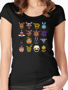 Five Nights at Freddy's - Pixel art - Multiple characters Women's Fitted Scoop T-Shirt