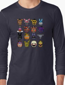 Five Nights at Freddy's - Pixel art - Multiple characters Long Sleeve T-Shirt