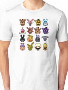 Five Nights at Freddy's - Pixel art - Multiple characters Unisex T-Shirt