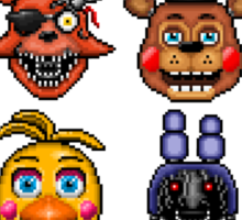 Five Nights at Freddy's - Pixel art - Multiple characters Sticker