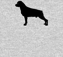 Rottweiler Dog Silhouette Unisex T-Shirt
