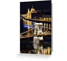 Budapest night ! Greeting Card