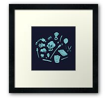 The Curse of Monkey Island Inventory (blue) Framed Print