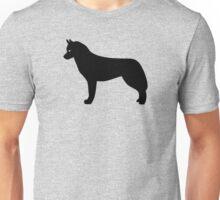 Siberian Husky Dog Silhouette Unisex T-Shirt