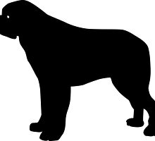 Saint Bernard Dog Silhouette by SandpiperDesign