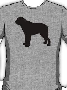 Saint Bernard Dog Silhouette T-Shirt