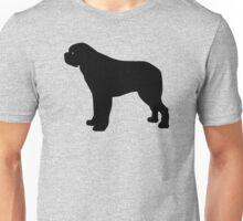 Saint Bernard Dog Silhouette Unisex T-Shirt
