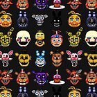 Five Nights at Freddys - Pixel art - Multiple characters by GEEKsomniac