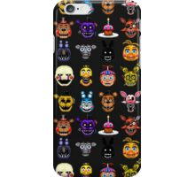 Five Nights at Freddys - Pixel art - Multiple characters iPhone Case/Skin